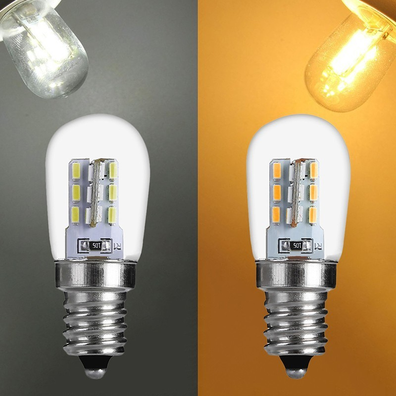 E12 2W E12 LED High Bright LED Light Bulb Glass Shade Lamp Pure Warm White Lighting For Sewing Machine Refrigerator