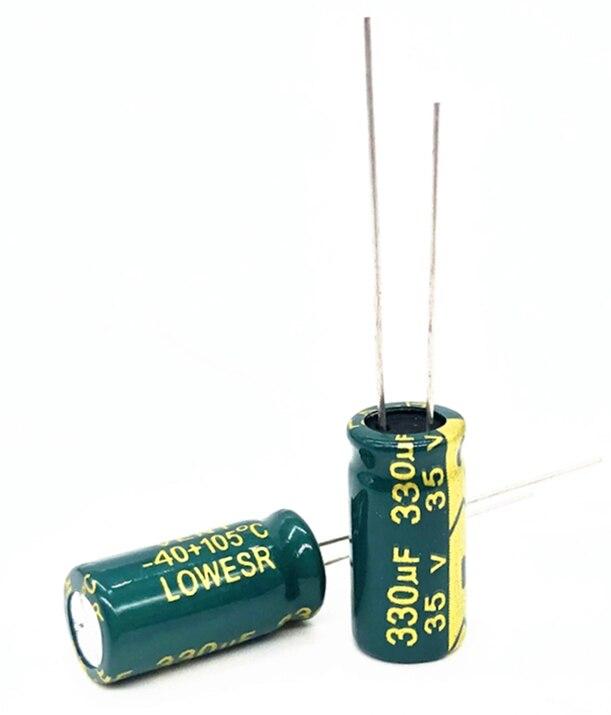 30pcs 35V 330UF 8*16 Electrolytic Capacitor 330uf 35v