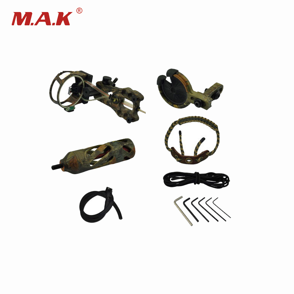 4 Color Archery Upgrade Combo Compound Bow Accessories with Bow Sight Arrow Rest Stabilizer for Compound Bow Hunting Shooting раскладушка therm a rest therm a rest luxurylite mesh xl