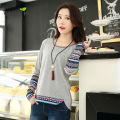 Hot Patchwork Long Sleeve Maternity Clothes for Pregnant Woman in Winter Maternity Nursing Clothes Tops of Breastfeeding Tee