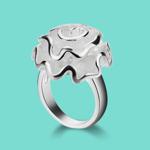 925 sterling silver ring female national style peony design rings Ms special style silver content Birthday gift for a friend