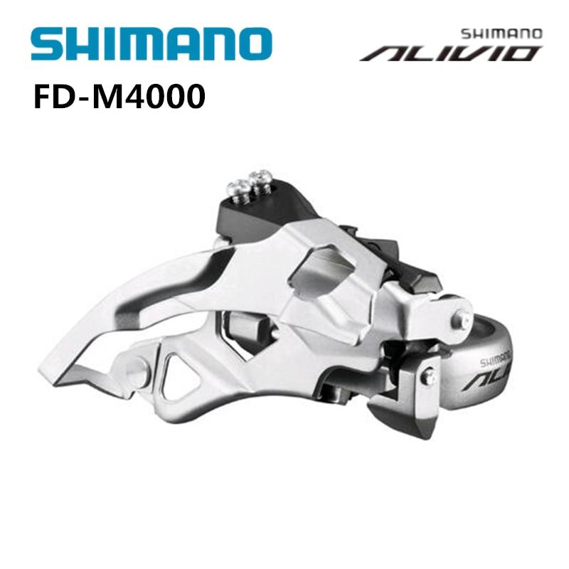 Bicycle Alivio FD-M4000 9-Speed Front Derailleur 31.8//34.9mm Clamp Mount Set