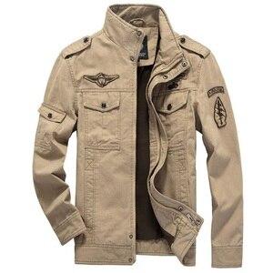 Image 3 - 2020 kurtka wojskowa mężczyźni dżinsy Casual Cotton Coat Plus rozmiar 6XL armia Bomber taktyczna kurtka lotnicza jesienne zimowe kurtki Cargo