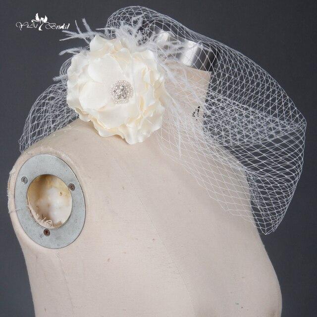 bien pas cher livraison gratuite chaussures décontractées € 36.14 |TA044 casquette en Tulle blanc Cage à oiseaux fleur avec plume  accessoires de mariage voile dans Voiles De Mariée de Mariages et  Événements ...