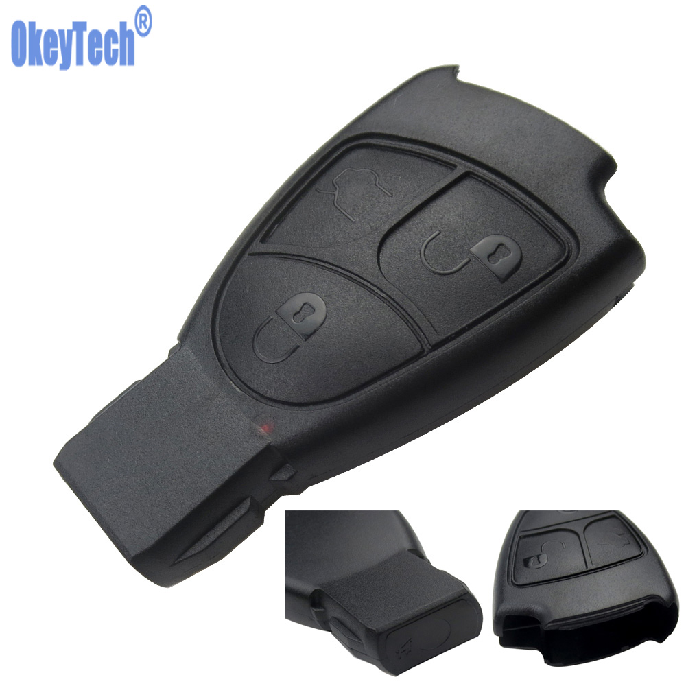 OkeyTech Remote Car Key Case For Mercedes Benz C E ML S SL SLK CLK AMG Soft 3 Buttons Smart Car Key Replacement Fob Cover for MB цена