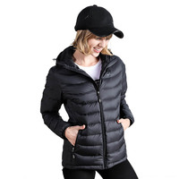 Light Weight USB Electric Heating Clothes Women 90% Duck Down Jackets Smart Thermostat Hooded Heated Parkas Warm Jacket
