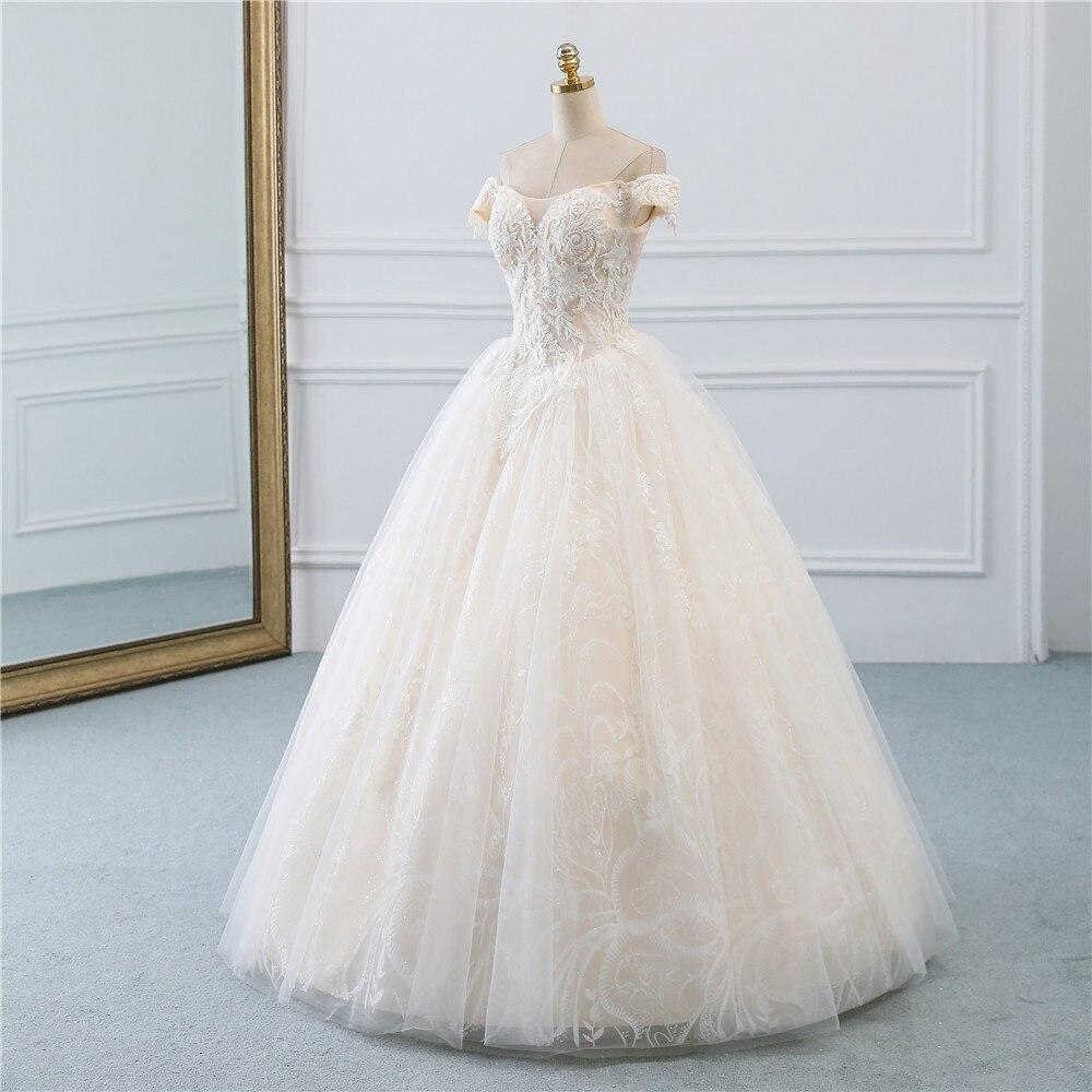 Image 2 - Fansmile, винтажное бальное платье принцессы, качественное Тюлевое свадебное платье, 2019, подгонянное, плюс размер, кружевное свадебное платье невесты, FSM 518F-in Свадебные платья from Все для свадеб и торжеств on AliExpress - 11.11_Double 11_Singles' Day