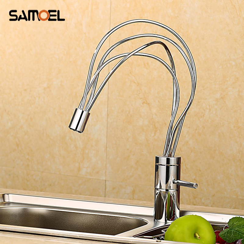 Nest Design Hot and Cold water tap Bathroom Basin Vessel Faucet Chrome Finish Solid Brass Mixer