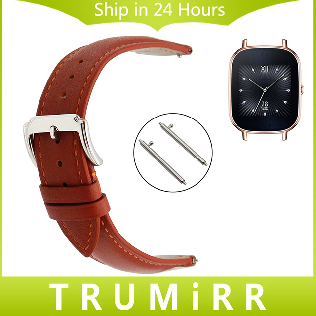 18mm Quick Release Watchband Calf Genuine Leather Strap for Asus ZenWatch 2 Women WI502Q Huawei Watch Band Wrist Belt Bracelet