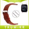 18mm liberação rápida pulseira bezerro pulseira de couro genuíno para asus zenwatch 2 mulheres wi502q huawei watch band correia de pulso pulseira
