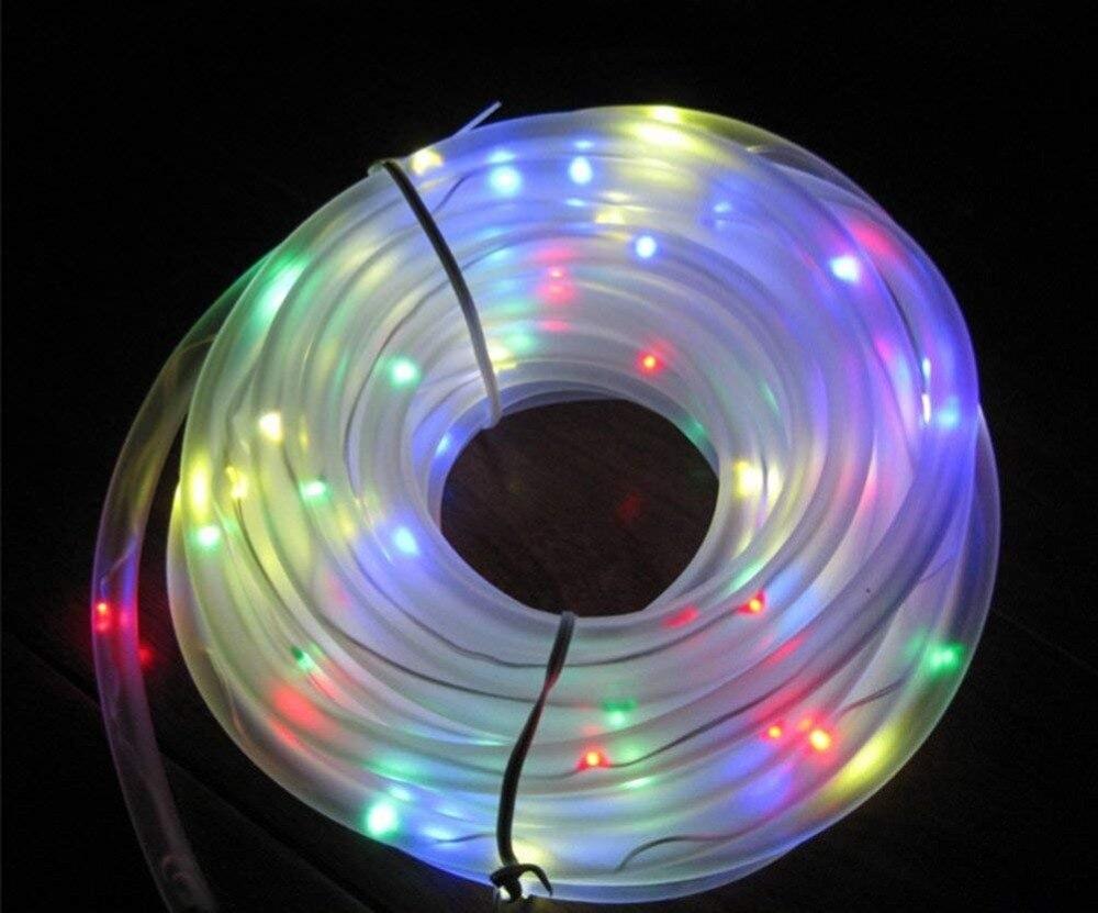 Rope Tube LED Solar Lamp 50100 LEDs String Lights Outdoor Fairy Holiday Christmas Party Solar Garden Light Waterproof luz solar (20)