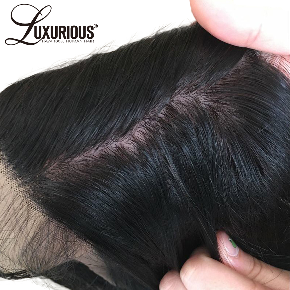 Silk Base 360 Lace Frontal Closure Pre Plucked With Baby Hair Brazilian Remy Hair Body Wave Lace Frontal With 4*4 Silk Top