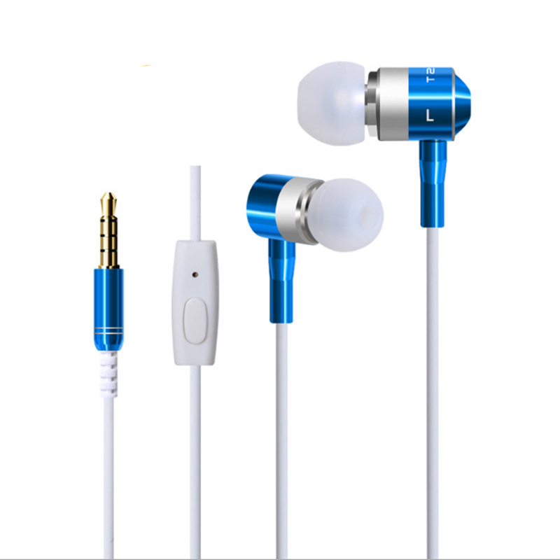 Universal Wired 3.5mm Earphone Headphones with Microphone Earbuds Earpiece Stereo Noise Cancelling Headset For phone MP3