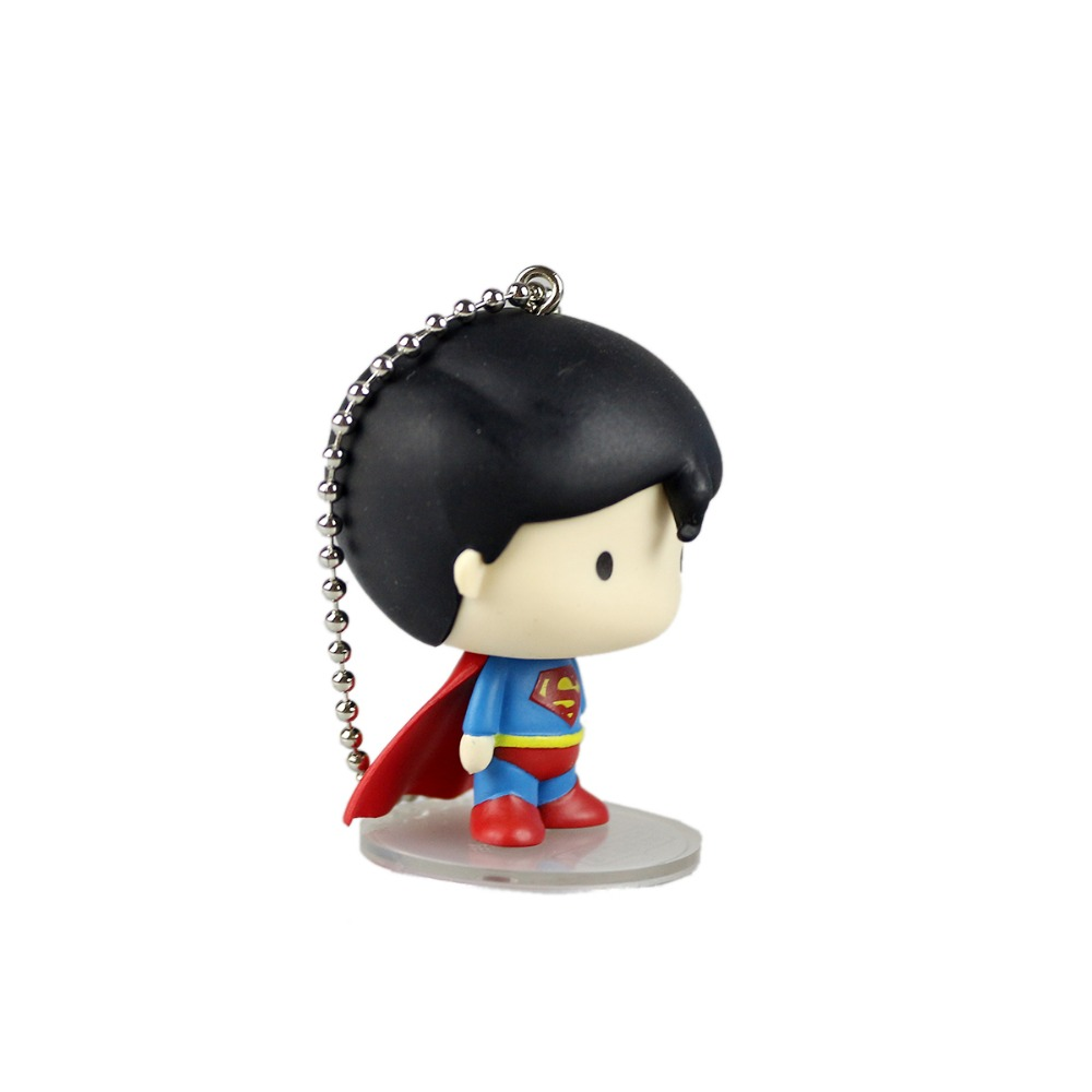 DC Justice League Superman 5cm/2 Cute Figure Pendant Base Collectible Gift Free Shipping