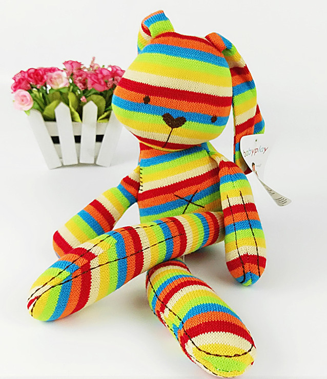 Mamas/&Papas Baby Kids Soft Toys Cute Lovely Rabbit Plush Toy Rainbow Animal