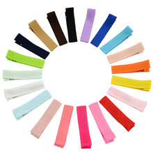20pcs/lot Multicolor Single Prong Metal Alligator Hair clips Clasps Kids Children Hairpins Barrettes girls DIY Hair Accessories