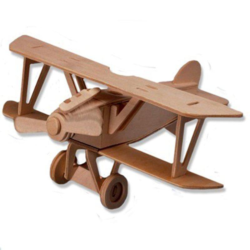 3-D Wooden Puzzle - Small Biplane Model Albatros Dv -Affordable Gift For Your Little One! Item #DCHI-WPZ-P059