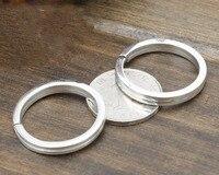 925 stering silver Huge heavy key ring Punk cool men DIY Accessories gift Y101
