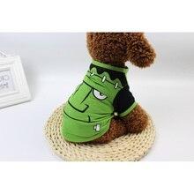 Spring/Summer Cotton Cloth Cartoon Dog Shirts Pet Clothes Halloween Clothing Summer Stars Cute Vests Size XS-XL Tee