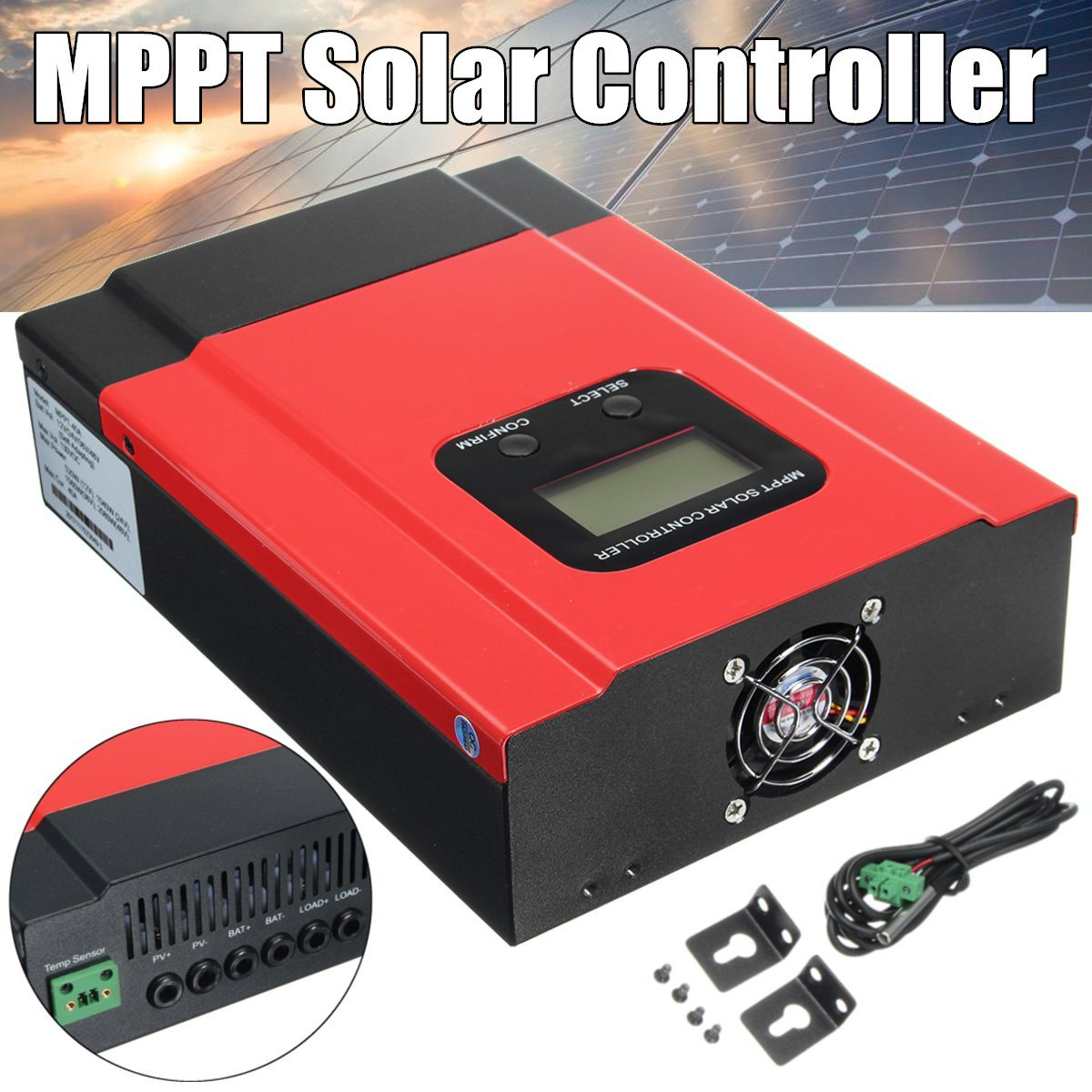 40A Smart MPPT Solar Charge Controller DC 12V 24V 36V 48V Auto Can With LCD WIFI Mobile APP 40A kbs48101x 40a 24 48v mini brushless dc controller
