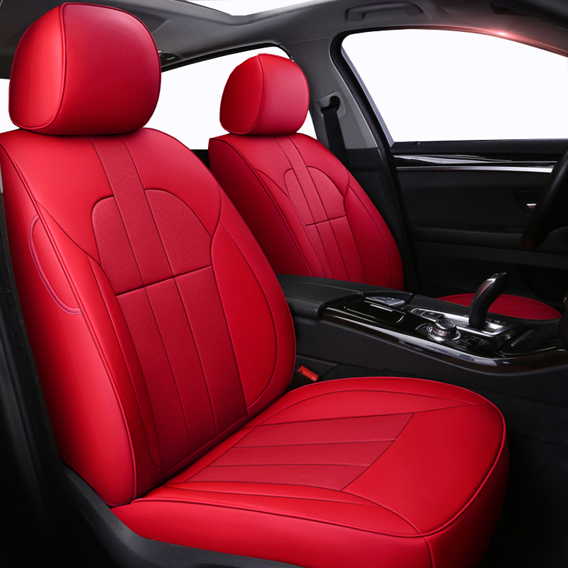 где купить ( Front + Rear ) Cowhide Special Leather car seat covers For opel mokka seat ibiza skoda octavia a5 mercedes w210 w212 honda по лучшей цене