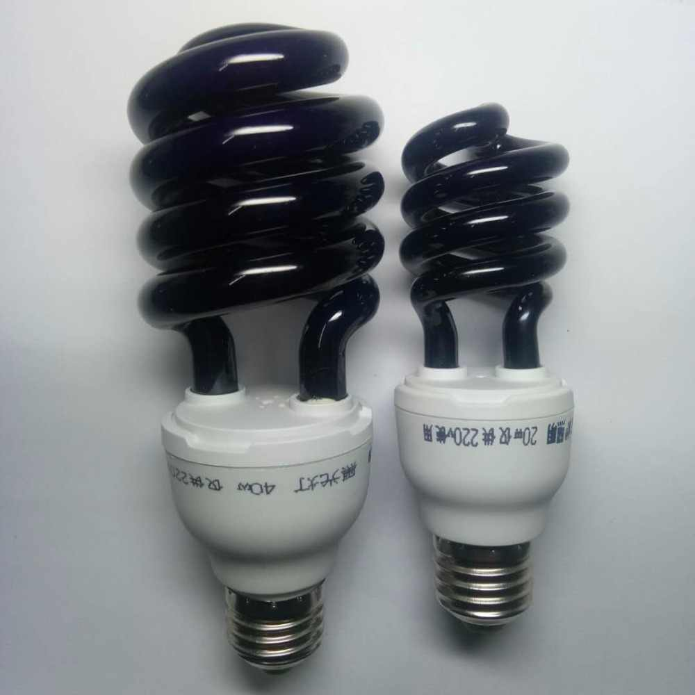 40 Вт E27 ультрафиолетовых кварцевых ламп ультрафиолетовый свет лампы спираль фиолетовый свет в помещении энергосберегающая лампа 365nm флуоресцентная лампа