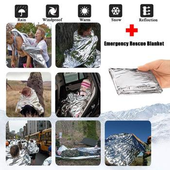 Emergency Foil Mylar Thermal Blanket Survival Kit for Disaster Preparedness/Outdoors Camping/ Hiking/Marathons First Aid