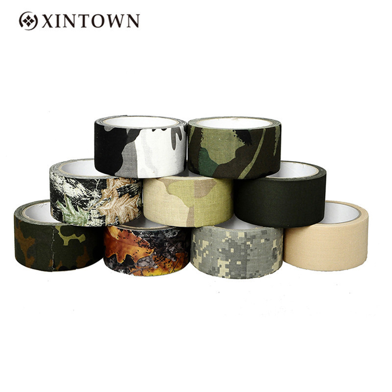 10m Waterproof Camo Duct Tape Gun Hunting Camping Camouflage Stealth Tape Wrap Outdoor Hunting Shooting Tool# ttgtactical tactical self adhesive camouflage tape elastic camouflage cloth tape 150x30cm hunting rifle protective camo tape