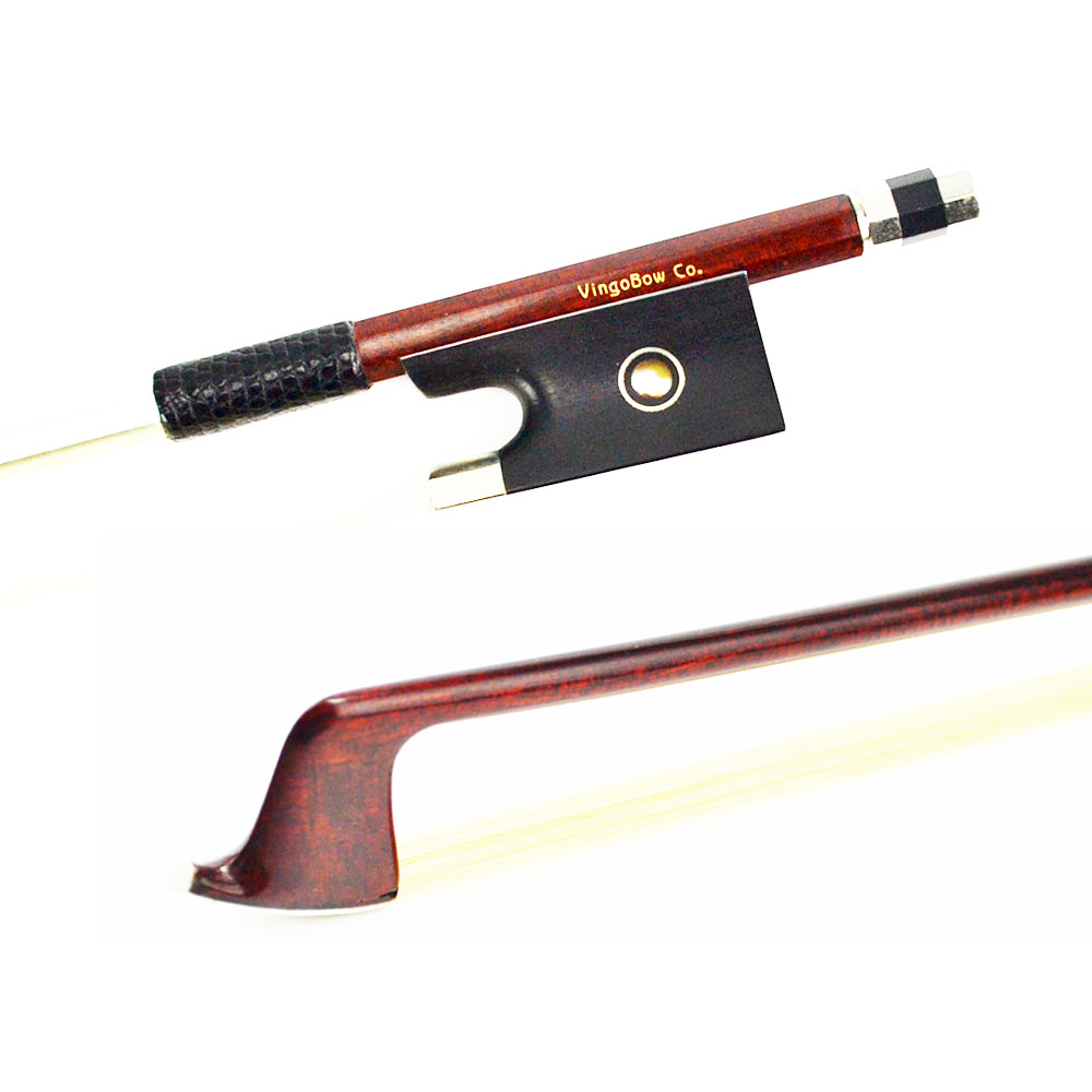 4/4 Size 120V VIOLIN BOW Carbon Fiber core Pernambuco Skin Stick High Quality Ebony Frog and Hair Straight Violin Accessories 1 4 size 812vb pernambuco violin bow high density ebony frog with nickel silver good quality hair straight violin accessories