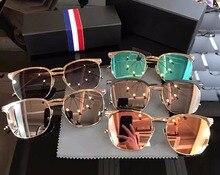 Alta calidad de La Vendimia gafas de sol gafas ópticas marco gafas de metal gafas de Miopía Gafas graduadas Gafas de Sol UV400