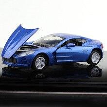 цена на 1:32 High Imitation Alloy Model Car 3 Open Door Toy Vehicle Aston Martin Rambo Sports Car For Kids Birthday Christmas Gifts Toy