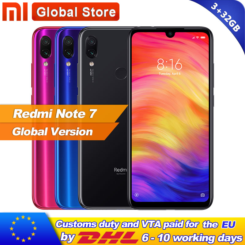 Global Version Xiaomi Redmi Note 7 3GB 32GB Smartphone Snapdragon 660 Octa Core 4000mAh 6 3