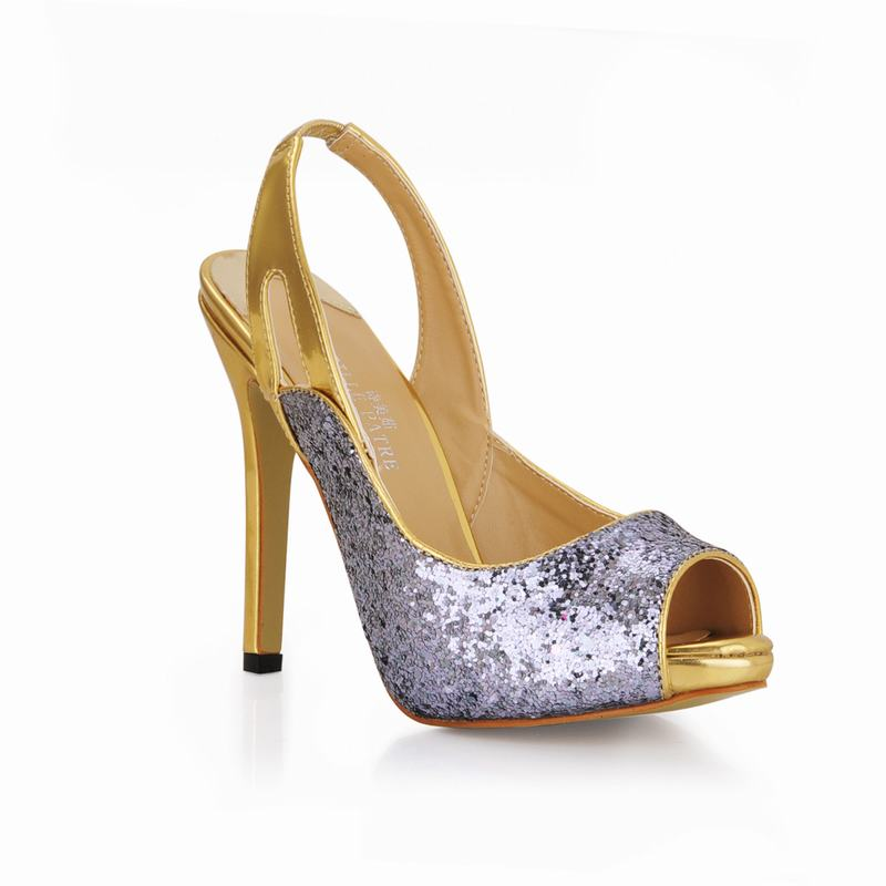 Peep Tenis Femme Sexy Feminino Valentine Tacones Beige Thin Señoras Mujer Club Sandalias Partido Zapatos Toe Altos Mujeres silver PYzfwqP