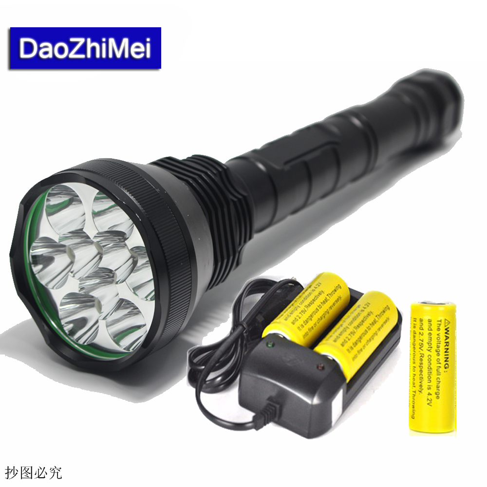9* XML T6 LED 20000 lumen 18650 26650 Outdoor waterproof floodlight flashlight,torch,lantern,camping +18650 26650 Battery+Charge 9 cree xml t6 led 20000 lumen 18650 26650 outdoor waterproof floodlight flashlight torch lantern camping light lamp hunting