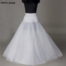 Elastic Waist A Line Bridal Petticoat Free Shipping Tulle Wedding Petticoat Underskirt Crinolines Wedding Accessories Cheap Sale