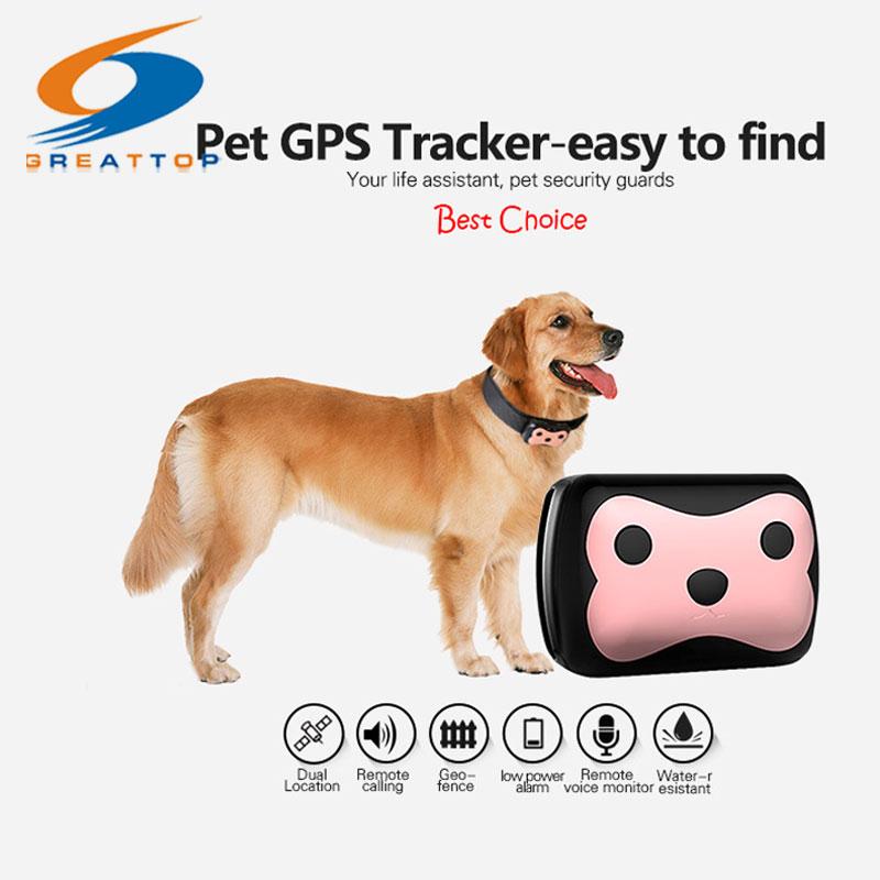 New Arrival Mini Waterproof Pets Collar GPS <font><b>Tracker</b></font> Cat <font><b>Dog</b></font> 4 Frequency GPRS GPS+LBS Dual Location with Free APP Free shipping