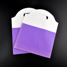 Lovely Plastic Shopping Gift  Bags Bargain Sale! Purple And White 50x 18*23cm Jewelry/Stockings/Candy Plastic Packaging Bags