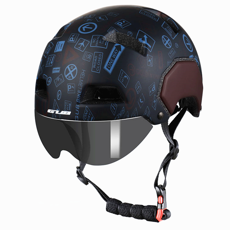 GUB V3 City Urban Bike Helmet With Magnetic Lens Road MTB Bicycle Motorcycle Sports Saftey Helmet M L Adult Cycling Safe Cap