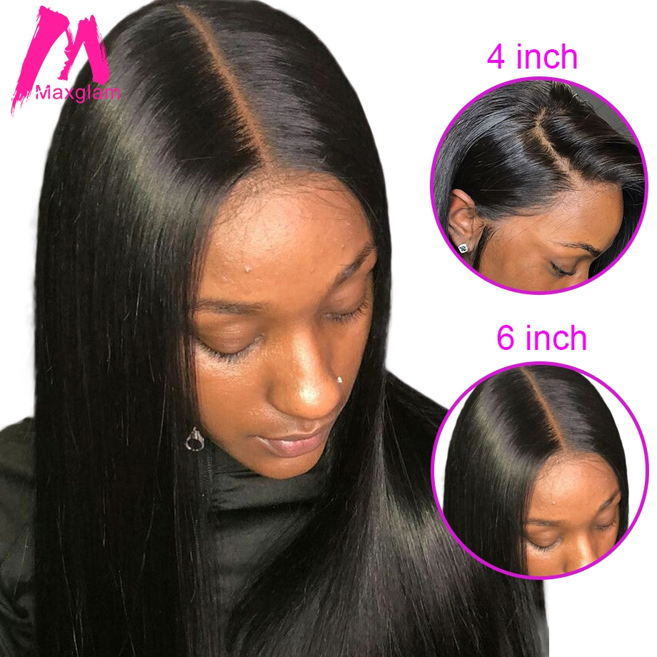New Arrival Maxglam 13x6 Lace Front Wig 360 Lace Frontal Human Hair Wigs With Pre Plucked