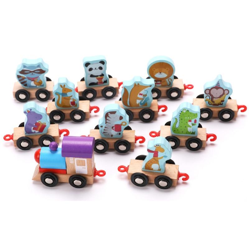 Montessori maths jouets pour enfants apprentissage éducation jouets en bois fruits Train jeu filles matériel contrable brinquedos