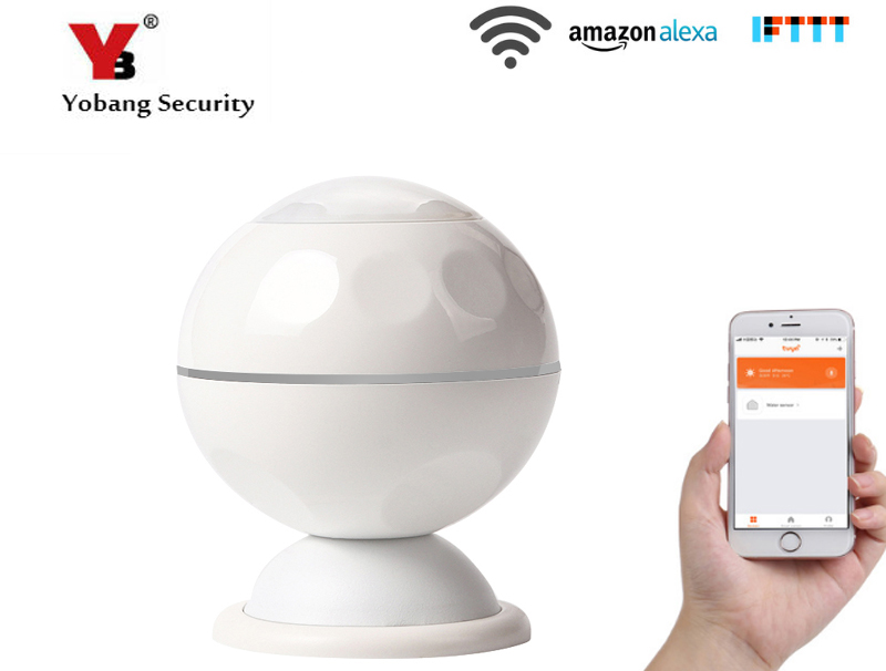 цена YobangSecurity Wifi Wireless Passive Infrared Motion Sensor Alarm PIR Motion Dectector For Smart Home Automation APP Control