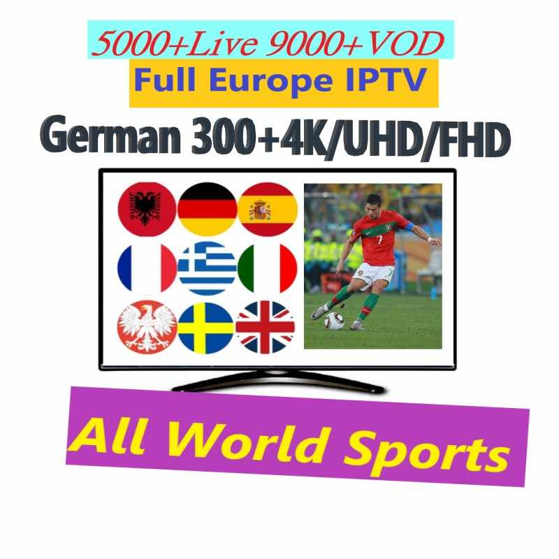 Germany Europe spain Arabic 5000+ channels 9000 VOD adult x x x 1/3/6/12 months iptv Netherlands France German reseller panel