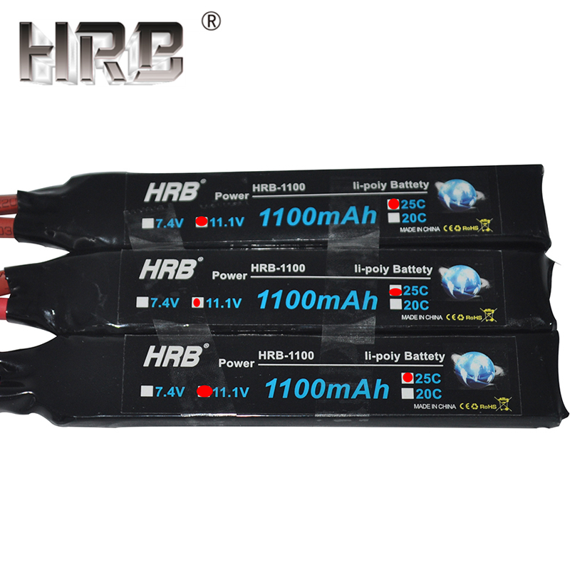 Image 3 - HRB Water Gun Lipo Battery 3S 2S 7.4V 11.1V 1100mAh 25C Tamiya Connector AKKU Mini Airsoft BB Air Pistol Electric Toys RC Parts-in Parts & Accessories from Toys & Hobbies