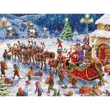 5D DIY diamond embroidery Christmas street diamond painting Cross Stitch full square Rhinestone mosaic home decoration 5d diy diamond mosaic cartoon full square diamond painting cross stitch kits embroidery home decoration gift