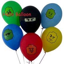 Atacado 12 pçs/lote Ninja go Balões de Látex balão de Casamento Festa de Aniversário Decoração Brinquedos Para As Crianças Globos Decoração