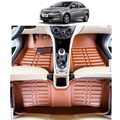 free shipping leather car floor mat carpet  for Hyundai Accent Blue verna solaris Fluidic  2010 2011 2012 2013 2014 2015 2016