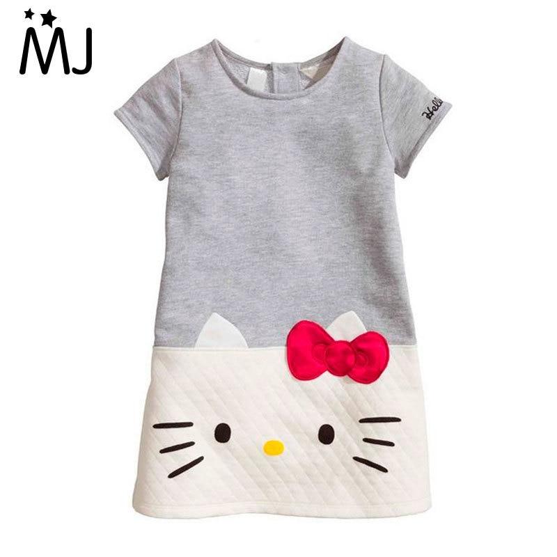 Hot Baby Hello Kitty 2016 Brand Children For Girls Princess Dress Christmas Kids Clothes Dresses