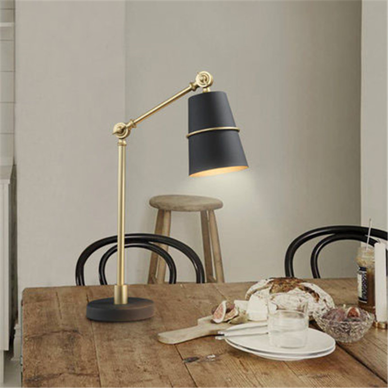 Postmodern Creative Nordic Office Desk Lamp Livingroom Bedroom Personality Bedside Study Decoration Lamp Free Shipping