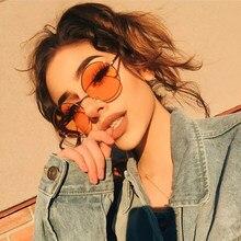 Sen Maries – lunettes de soleil rondes UV400 pour femmes, monture métallique, Vintage, rose, jaune, verres colorés, nouvelle mode 2020