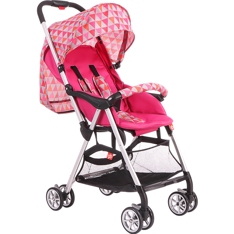 ФОТО fashion printed baby stroller super light weight breathable folding strollers prams and pushchairs shockproof baby car c01